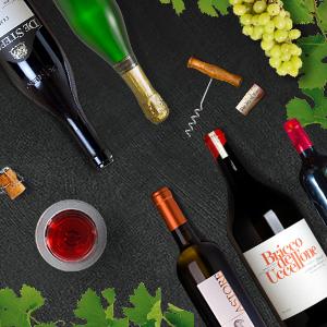 italienischer Rotwein und Weißwein